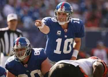 NFL 2010 Eli Manning New York Giants QB