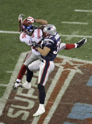 Super Bowl XLII GLENDALE, AZ - FEBRUARY 03: Receiver David Tyree of the New York Giants and his unbelievable catch
