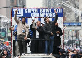 Super Bowl Celebration - NY Ticker Tape Parade in the Canyon of Heroes